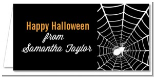 Spider - Personalized Halloween Place Cards