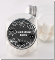 Spider Webs - Personalized Halloween Candy Jar