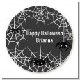 Spider Webs - Round Personalized Halloween Sticker Labels thumbnail