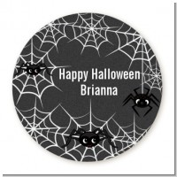 Spider Webs - Round Personalized Halloween Sticker Labels