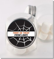 Spiders Web - Personalized Halloween Candy Jar