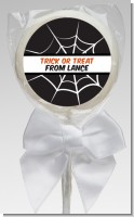 Spiders Web - Personalized Halloween Lollipop Favors