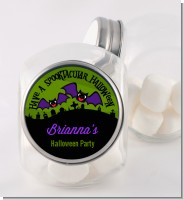 Spooky Bats - Personalized Halloween Candy Jar