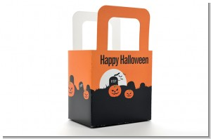 Spooky Pumpkin - Personalized Halloween Favor Boxes