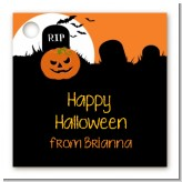 Spooky Pumpkin - Personalized Halloween Card Stock Favor Tags