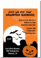 Spooky Pumpkin - Halloween Petite Invitations