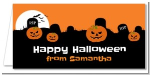 Spooky Pumpkin - Personalized Halloween Place Cards