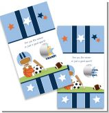 Sports Baby African American - Baby Shower Scratch Off Game Tickets