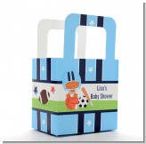 Sports Baby African American - Personalized Baby Shower Favor Boxes
