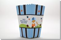 Sports Baby African American - Personalized Baby Shower Popcorn Boxes