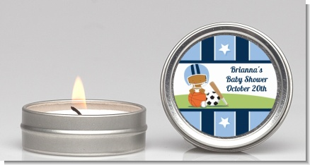 Sports Baby African American - Baby Shower Candle Favors