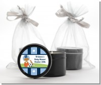 Sports Baby African American - Baby Shower Black Candle Tin Favors