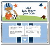 Sports Baby African American - Personalized Baby Shower Candy Bar Wrappers