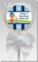 Sports Baby African American - Personalized Baby Shower Lollipop Favors