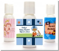 Sports Baby African American - Personalized Baby Shower Lotion Favors