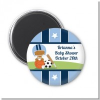 Sports Baby African American - Personalized Baby Shower Magnet Favors