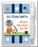 Sports Baby African American - Baby Shower Personalized Notebook Favor