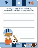 Sports Baby African American - Baby Shower Notes of Advice
