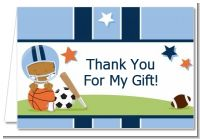 Sports Baby African American - Baby Shower Thank You Cards