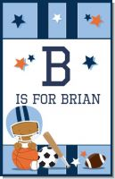 Sports Baby African American - Personalized Baby Shower Nursery Wall Art