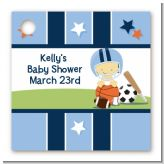 Sports Baby Asian - Personalized Baby Shower Card Stock Favor Tags