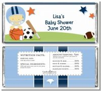Sports Baby Asian - Personalized Baby Shower Candy Bar Wrappers