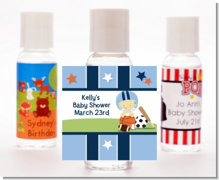 Sports Baby Asian - Personalized Baby Shower Hand Sanitizers Favors