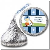 Sports Baby Asian - Hershey Kiss Baby Shower Sticker Labels