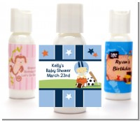 Sports Baby Asian - Personalized Baby Shower Lotion Favors