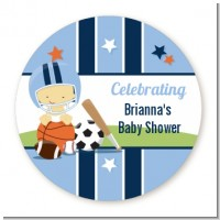 Sports Baby Asian - Personalized Baby Shower Table Confetti
