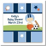 Sports Baby Caucasian - Personalized Baby Shower Card Stock Favor Tags