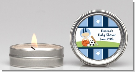 Sports Baby Caucasian - Baby Shower Candle Favors