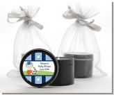 Sports Baby Caucasian - Baby Shower Black Candle Tin Favors