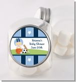 Sports Baby Caucasian - Personalized Baby Shower Candy Jar