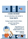 Sports Baby Caucasian - Baby Shower Petite Invitations