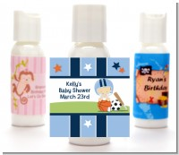 Sports Baby Caucasian - Personalized Baby Shower Lotion Favors