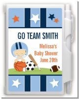 Sports Baby Caucasian - Baby Shower Personalized Notebook Favor