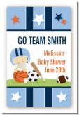 Sports Baby Caucasian - Custom Large Rectangle Baby Shower Sticker/Labels