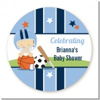 Sports Baby Caucasian - Personalized Baby Shower Table Confetti