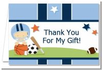 Sports Baby Caucasian - Baby Shower Thank You Cards