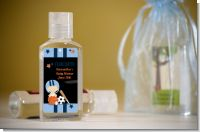 Sports Baby Caucasian - Personalized Baby Shower Hand Sanitizers Favors