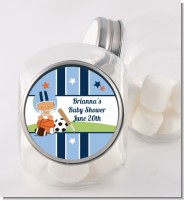 Sports Baby Hispanic - Personalized Baby Shower Candy Jar