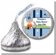 Sports Baby Hispanic - Hershey Kiss Baby Shower Sticker Labels thumbnail