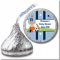 Sports Baby Hispanic - Hershey Kiss Baby Shower Sticker Labels