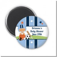 Sports Baby Hispanic - Personalized Baby Shower Magnet Favors