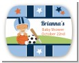 Sports Baby Hispanic - Personalized Baby Shower Rounded Corner Stickers thumbnail
