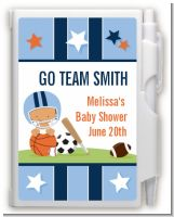 Sports Baby Hispanic - Baby Shower Personalized Notebook Favor