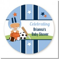 Sports Baby Hispanic - Personalized Baby Shower Table Confetti