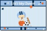 Sports Baby Caucasian - Personalized Baby Shower Placemats