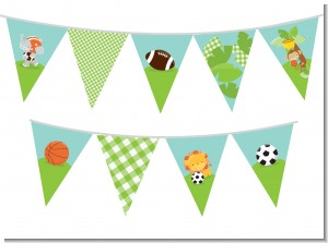 Team Safari - Baby Shower Themed Pennant Set